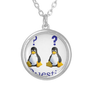 LinuxQuestions.org Logo Round Pendant Necklace