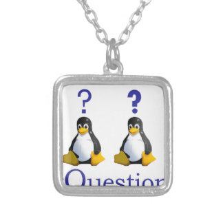 LinuxQuestions.org Logo Square Pendant Necklace