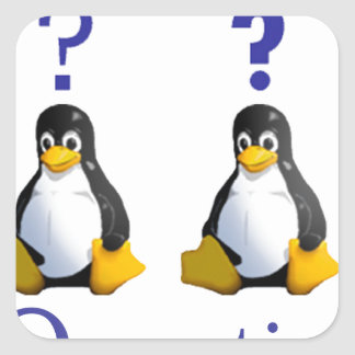 LinuxQuestions.org Logo Square Sticker