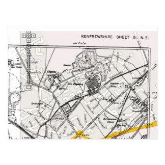 Linwood Map Postcard