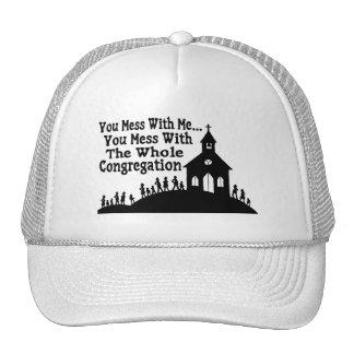 Lío con la congregación entera gorras