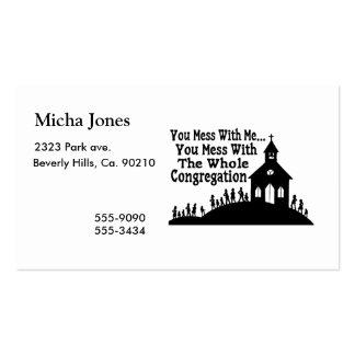 Lío con la congregación entera tarjetas de visita