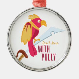 Lío con Polly Adorno Redondo Plateado