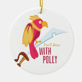 Lío con Polly Adorno Redondo De Cerámica
