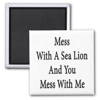 Lío con un león marino y usted lío conmigo imanes