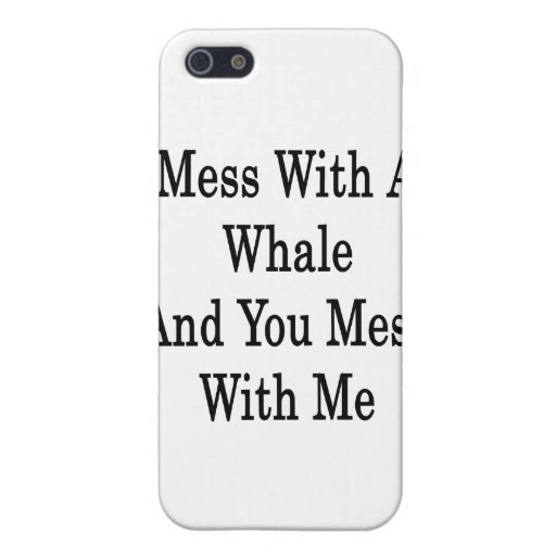 Lío con una ballena y usted lío conmigo iPhone 5 fundas