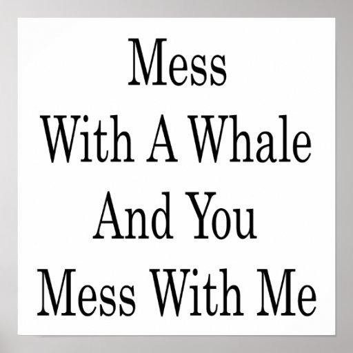 Lío con una ballena y usted lío conmigo posters