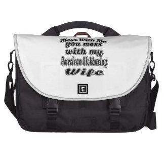 Lío conmigo que usted ensucia con mi kickboxing bolsas de portátil