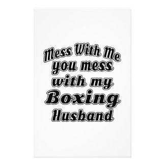 Lío conmigo usted lío con mi boxeo papeleria de diseño