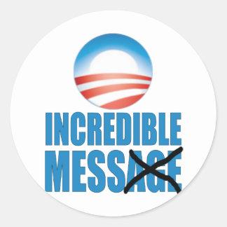 Lío increíble - Obama anti Pegatina Redonda