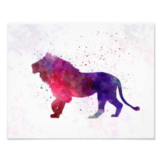 Lion 01 in watercolor cojinete