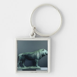 Lion, 1904 Silver-Colored square keychain