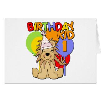 Lion 1st Birthay Card
