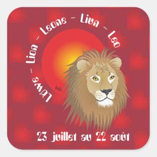 Lion 23 juillet 22 Autocollants au