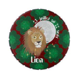 Lion 23 juillet outer 22 août Boite à drops Jelly Belly Tin