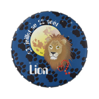 Lion 23 juillet outer 22 août Boite à drops Jelly Belly Tins