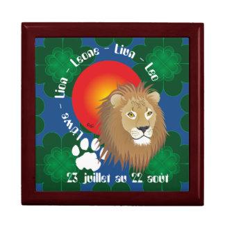 Lion 23 juillet outer 22 août Coffret cadeau Keepsake Box