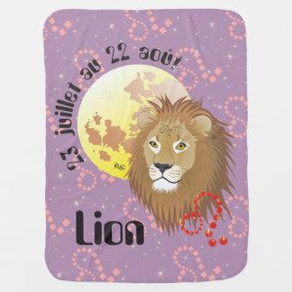 Lion 23 juillet outer 22 août Couverture bébé Baby Blanket