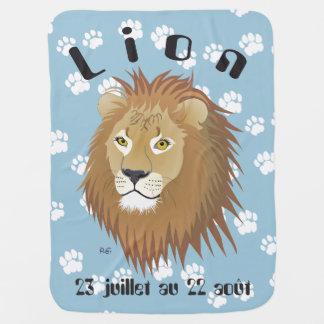 Lion 23 juillet outer 22 août Couverture bébé Stroller Blanket