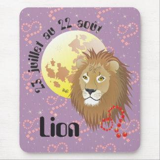 Lion 23 juillet outer 22 août Tapi de souri Mouse Pad