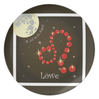 _lion 23. July to 22. August/plate Melamine Plate