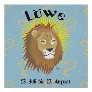 _lion 23. July to 22. August poster