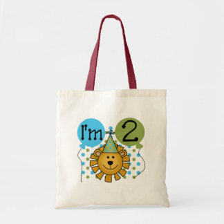 Lion 2nd Birthday T-shirts and Gifts Tote Bags