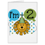 Lion 2nd Birthday T-shirts and Gifts Card