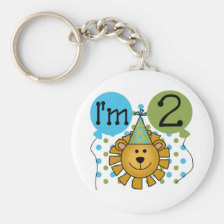 Lion 2nd Birthday T-shirts and Gifts Keychain