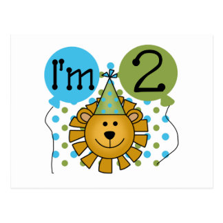 Lion 2nd Birthday T-shirts and Gifts Post Card