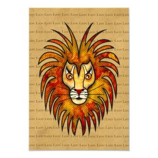 Lion 3.5x5 Paper Invitation Card