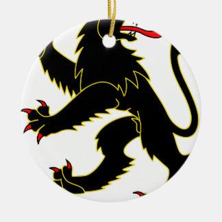 Lion #3 ceramic ornament