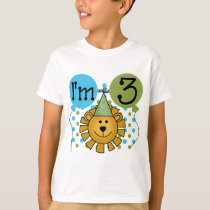 Lion 3rd Birthday T-shirts and Gifts