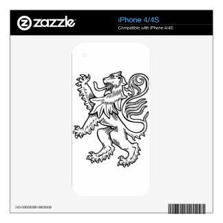 Lion #4 skin for iPhone 4