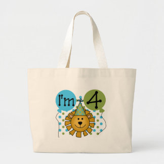 Lion 4th Birthday T-shirts and Gifts Bag