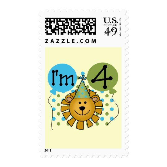 Lion 4th Birthday T-shirts and Gifts Postage