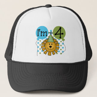 Lion 4th Birthday T-shirts and Gifts Trucker Hat