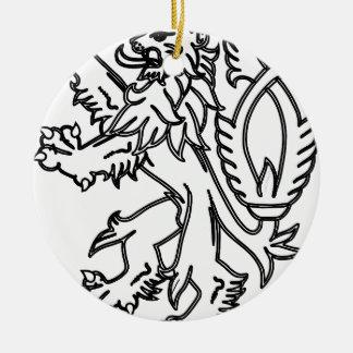 Lion #5 ceramic ornament