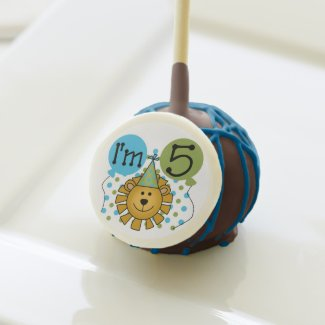 Lion 5th Birthday Cake Pops