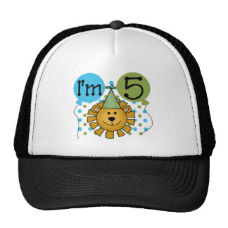 Lion 5th Birthday T-shirts and Gifts Trucker Hat