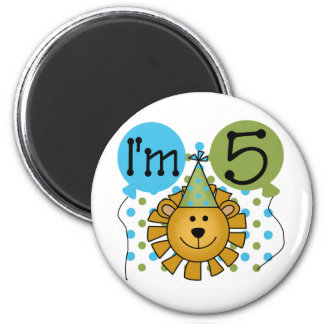 Lion 5th Birthday T-shirts and Gifts Magnet