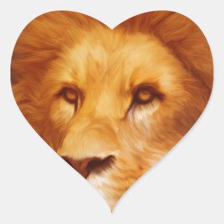 lion-6175 heart sticker