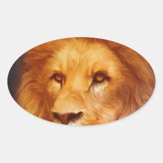 lion-6175 oval sticker