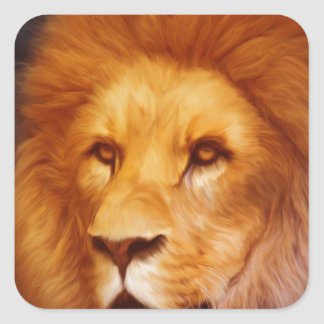 lion-6175 square sticker