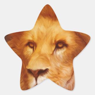 lion-6175 star sticker
