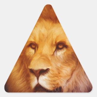 lion-6175 triangle sticker