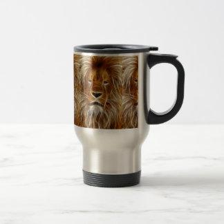 lion-66898 INCREDIBLE DIGITAL ARTWILD ANIMALS BIG Travel Mug