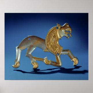 Lion, 6th- 7th century BC Poster