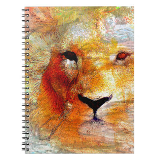 Lion Abstract Gifts Spiral Notebook