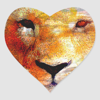 Lion Abstract Gifts Heart Sticker